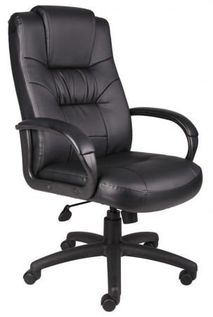 Boss Executive LeatherPlus Office Chair With Armrests