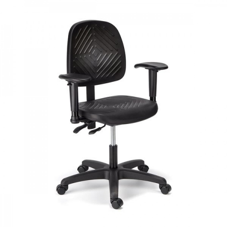 Cramer Medium Back Intensive Use Rhino Desk Chair w/ Urethane Skin 300 lb. Capacity Optional Seat Height Up To 32.75""