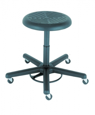 Cramer Rhino Series Foot Activated Round Stool w/ Urethane Seat - Seat Height Options Up to 28""