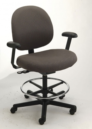 Cramer Large Back Intensive Use Triton Office Chair w/ Chair Height Options 350 lb. Capacity Standard Seat Height 16-20.5""