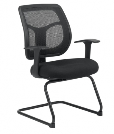 Eurotech Apollo Mesh Guest Chair With Sled Base
