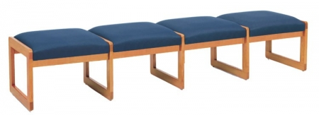 Lesro Classic Series 4 Seat Bench w/ Sled Base