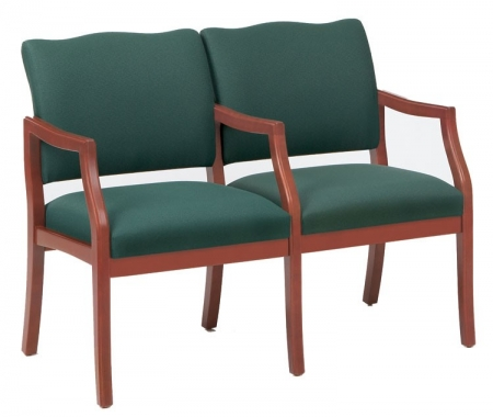 Lesro Franklin Series 2 Seat Guest Chair w/ Center Arms