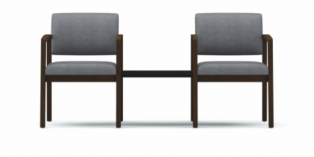 Lesro Lenox Series 2 Seat Reception Chairs w/ Connecting Table