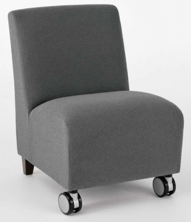 Lesro Siena Series Armless Reception Chair w/ Casters