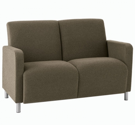 Lesro Ravenna Series Two Seat Sofa With Optional Steel or Wood Legs