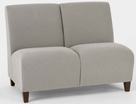 Lesro Siena 2 Seat Armless Reception Sofa (LS-Q2402G3)