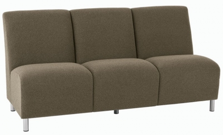 Lesro Ravenna Series Armless Three Seat Sofa With Optional Steel or Wood Legs (LS-Q3402G8)