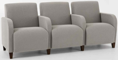 Lesro Siena Series 3 Seat Reception Sofa With Center Arms (LS-Q3403G3)