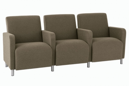 Lesro Ravenna Series Three Seat Sofa With Center Arms