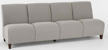 Lesro Siena Series 4 Seat Armless Reception Sofa