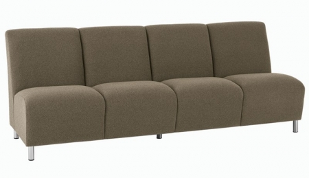 Lesro Ravenna Series Armless Four Seat Sofa With Optional Steel or Wood Legs (LS-Q4402G8)