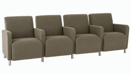 Lesro Ravenna Series Four Seat Sofa With Center Arms (LS-Q4403G8)