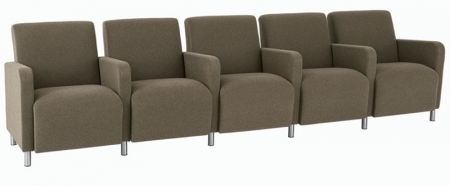 Lesro Ravenna Series Five Seat Sofa With Center Arms (LS-Q5403G8)