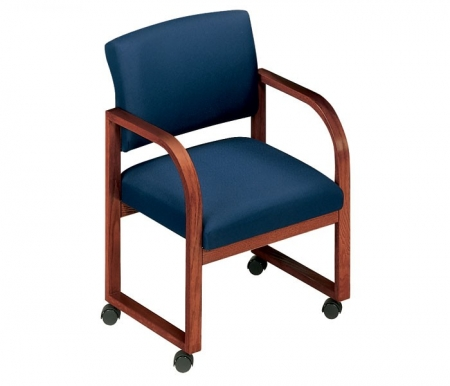 Lesro Contour Open Back Series Guest Chair w/ Casters