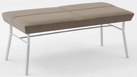 Lesro Mystic Series 2 Seat Reception Bench With Steel Frame (LS-S1005B7)