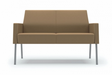Lesro Mystic Lounge Series Panel Arm Loveseat