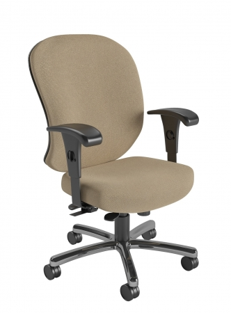 Nightingale 24/7 Heavy Duty Intensive Use Office Chair With Built-In Lumbar Support Rated For 450 lbs. (NG-247HD)