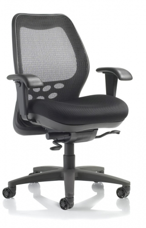 Nightingale SXO Mid Back Mesh Office Chair With Plastic Back Storage Pocket