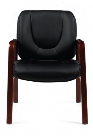 Offices To Go Black Leather Guest Chair