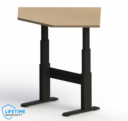 "NewHeights� Elegante XT Electric Adjustable Corner Desk - 24"" to 51"" Adjustment Range - 325 lbs Capacity **Made in the USA**"