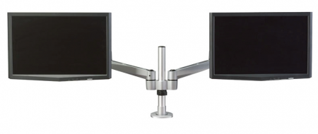 Hover� 2 Post Mount Dual Monitor w/ Double Extension Arms