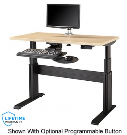 The NewHeights� Elegante XT NETSTATION Complete Electric Adjustable Workstation with Keyboard System, Monitor Arm and CPU Holder **Made in the USA**