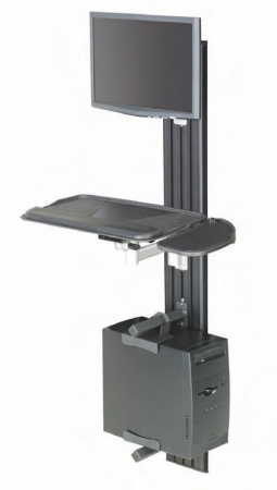 RightAngle VW Series Wall Mount Compact Workstation With Adjustable Monitor & Keyboard Arms (RA-VWCOMP)