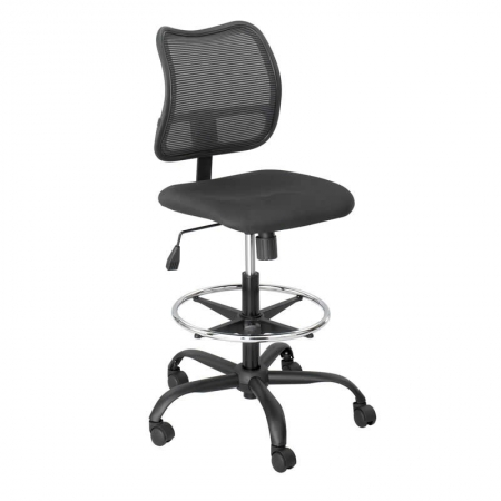 "Safco Vue� Extended-Height Mesh Chair With Optional Loop Arms (Seat Height 23"" to 33"") (SAF-3395BL)"
