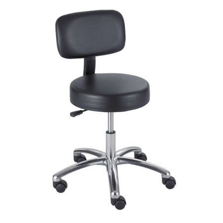 "Safco Lab Stool w/ Polyurethane Seat/Back Seat Height 17"" to 22"""