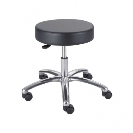 "Safco Lab Stool With Polyurethane Seat (Seat Height 17"" to 22"") (SAF-3431BL)"