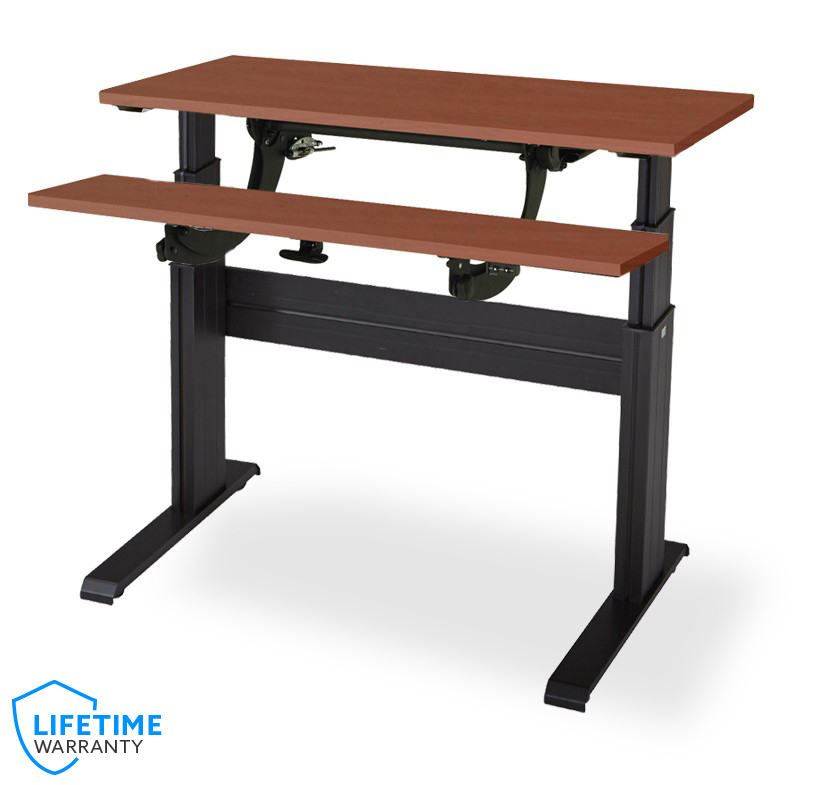 Newheights Split Work Surface Electric Sit To Stand Desk