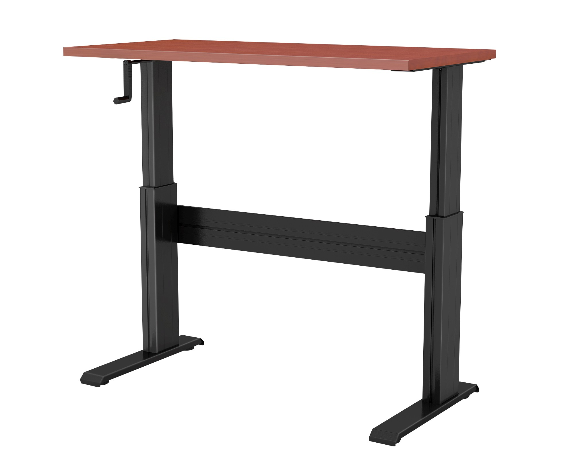 "NewHeights™ Vuelta Manual Crank Sit Stand Desk - 27"" to 47"" Adjustment Range - 250lbs Capacity **Made in the USA**"