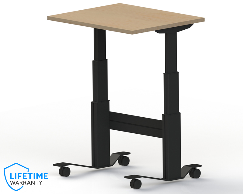 Newheights Elegante Xt Sit Stand Desk On Wheels 24 To 51 Adjustment Range 325 Lbs Capacity Made In The Usa