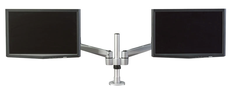 Hover 2 Post Mount Dual Monitor w/ Double Extension Arms