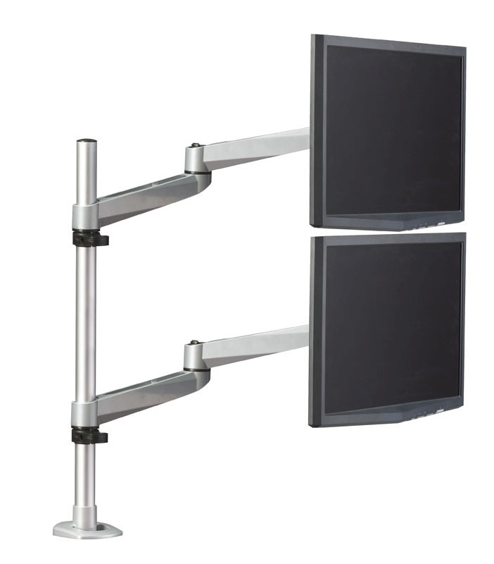 RightAngle Hover Series 2 Vertical Monitor Post Mount Dual Extension Arms