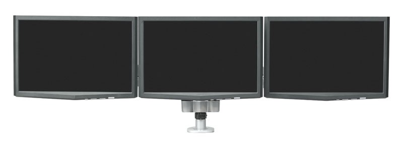 RightAngle Hover™ 2 Series Post Mount Triple Monitor Arm