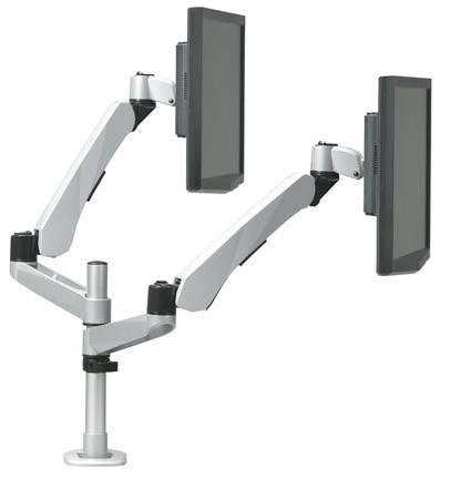RightAngle Hover Series 2 Dual Extension Adjustable Monitor Arm Spring Mount