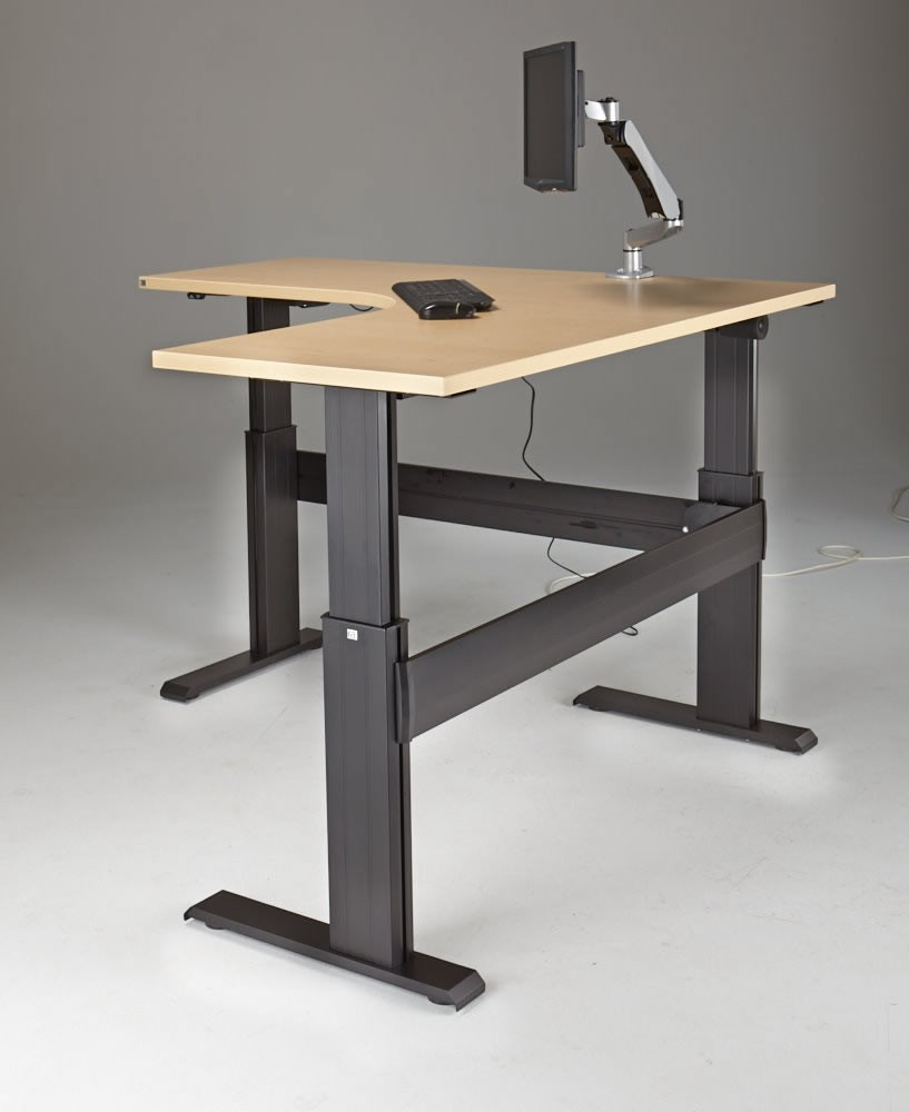 Newheights Eficiente Lt Series L Shaped Electric Sit Stand Desk 27 To 47 Adjustment Range 375 Lbs Capacity Made In The Usa