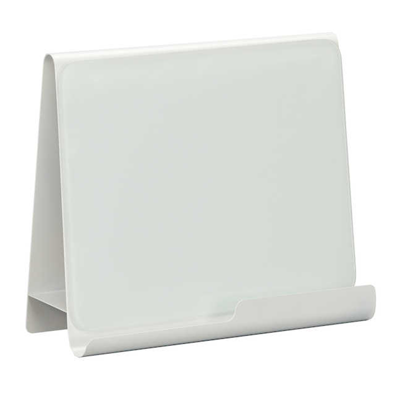 Safco Wave White Finish Desk Accessory Metal Frame