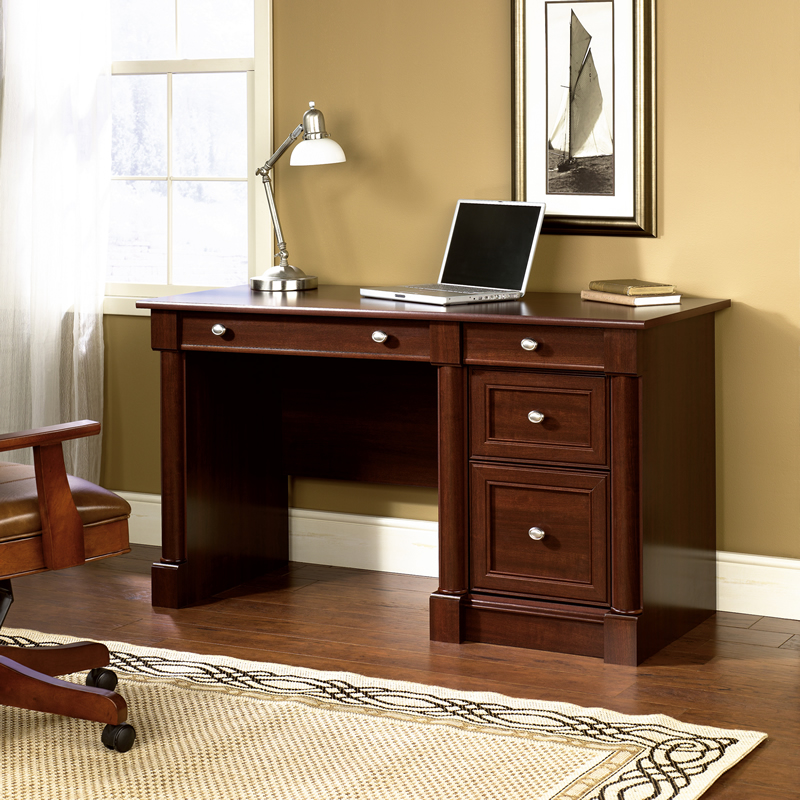 Sauder Palladia Home Office Computer Desk Cherry Finish