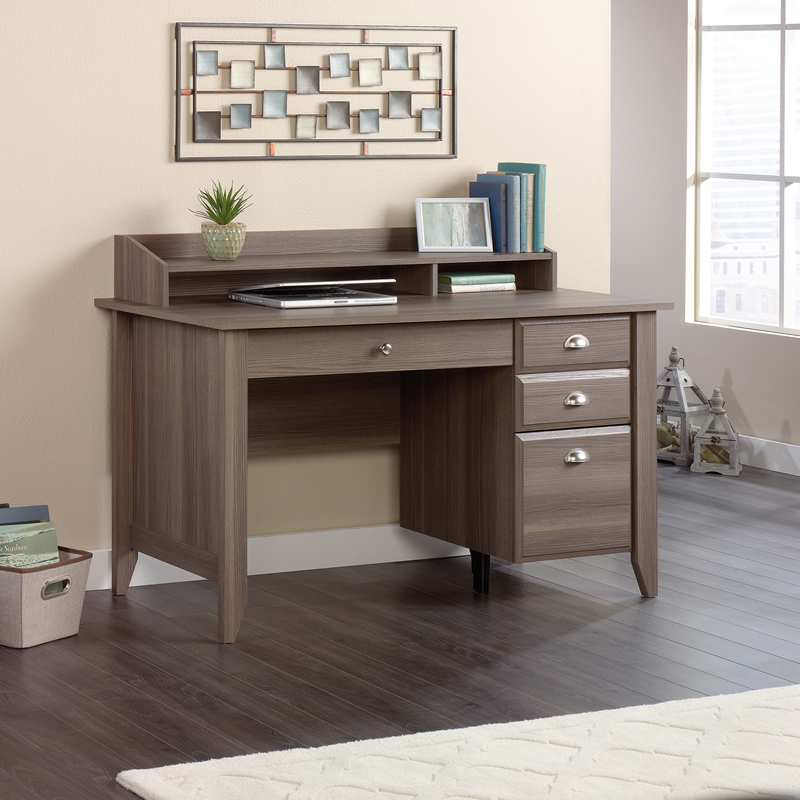 Sauder Shoal Creek Compact Home Office Desk Diamond Ash Finish