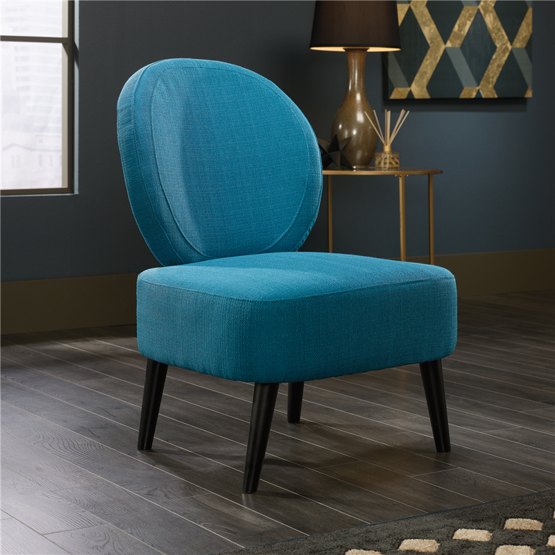 Sauder International Lux Maya Accent Guest Chair - Solid Wood Legs