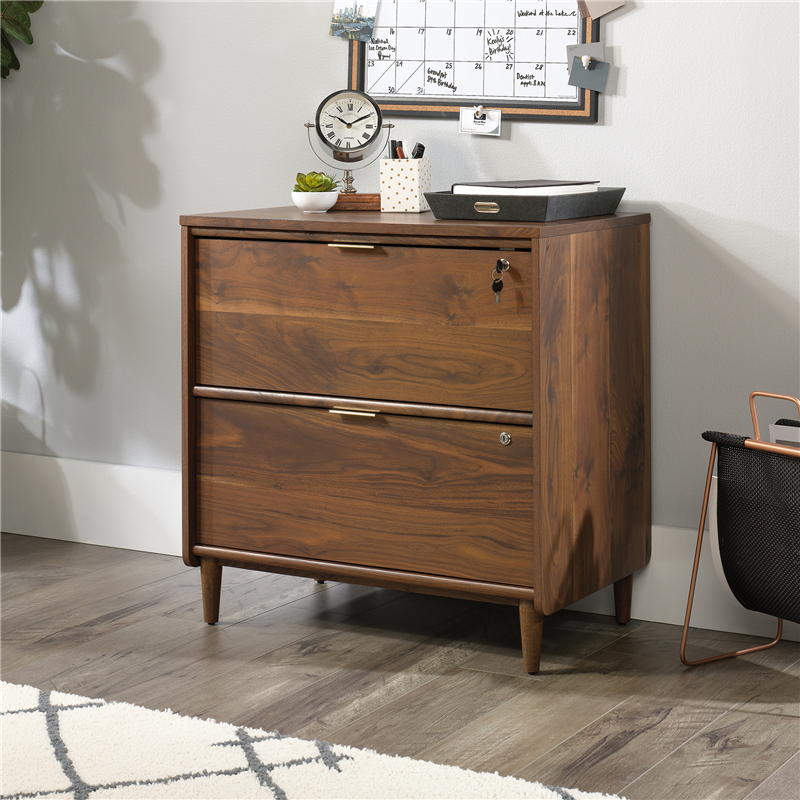Sauder Clifford Place Lateral File Grand Walnut Finish