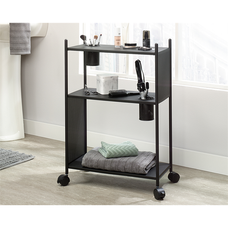 Sauder Boulevard Cafe Black finish Multi-Purpose Cart Metal Frame