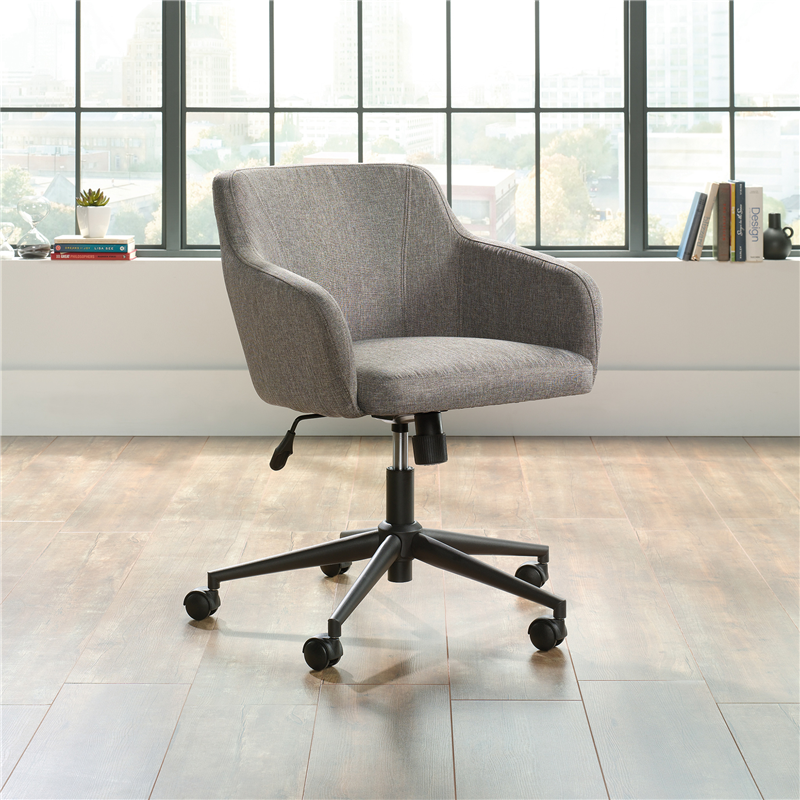 Awesome Sauder Harvey Park Office Chair Gray Fabric 423804 Gmtry Best Dining Table And Chair Ideas Images Gmtryco