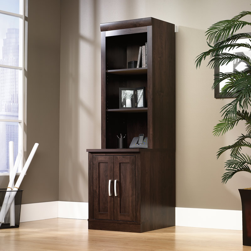Sauder Office Library Base With Hutch Set