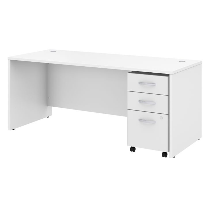 Studio C White Laminate Finish Office Desk