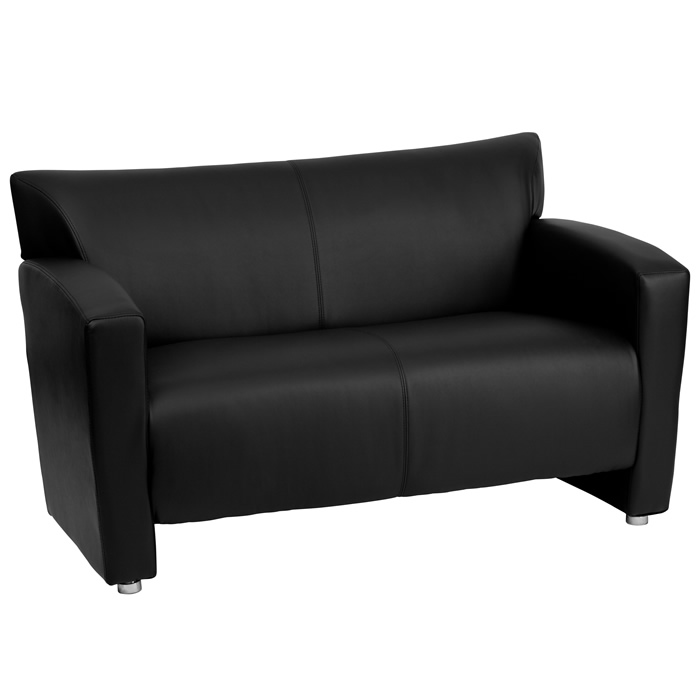 btod majesty series leather love seat available in black white or brown - Black Leather Loveseat
