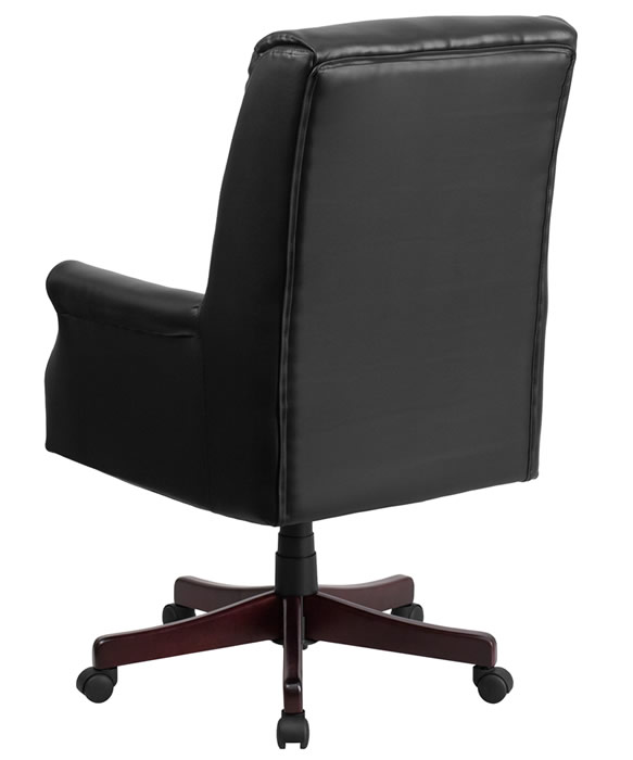 *New* BTOD High Back Traditional Leather Office Chair Available in Burgundy, Brown or Black